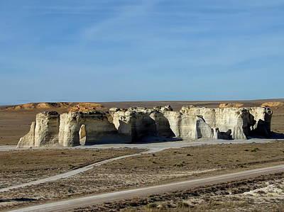 Mellow Yellow - Monument Rocks Kansas by Alan Hutchins