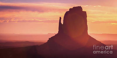 Photograph - Monument Sunrise Pano by Anthony Michael Bonafede