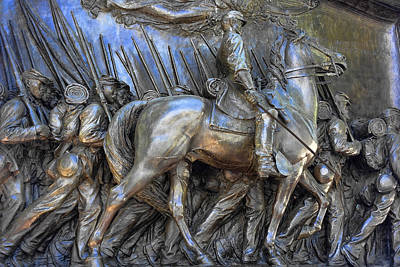 Photograph - Monument To Black Civil War Soldiers In Boston Y1 by Carlos Diaz