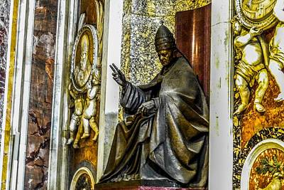 Photograph - Monument To Pope Pius Xi In St Peter's Basilica by Marilyn Burton