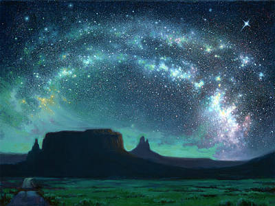 Monument To The Stars Art Print