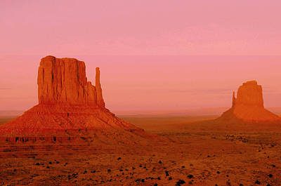 Photograph - Monument Valley  --  The Mittens  by Brian Hoover