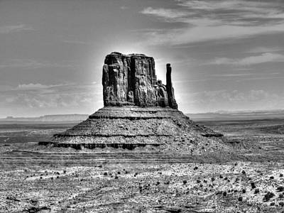 Photograph - Monument Valley 2 Bw by Michael Damiani