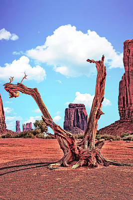 Photograph - Monument Valley 37 - North Window # 2 by Allen Beatty