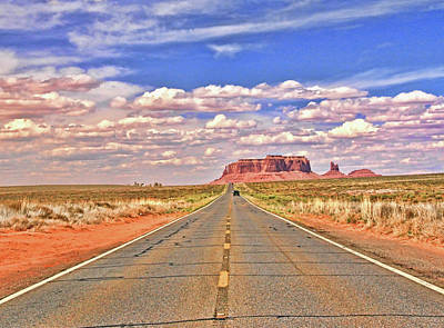 Photograph - Monument Valley 38 - The Road To Monument Valley - Rt. 163 # 2 by Allen Beatty