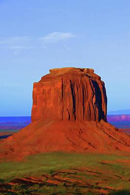 Photograph - Monument Valley 39 - Merrick Butte by Allen Beatty