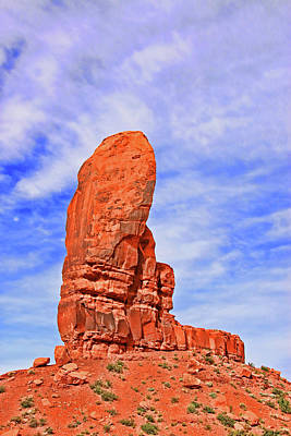 Photograph - Monument Valley 6 - The Thumb by Allen Beatty
