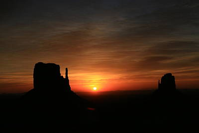 Photograph - Monument Valley 9 - The Mittens Sunrise by Allen Beatty