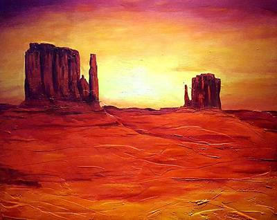 Painting - Monument Valley by Alan Conder