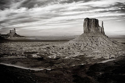 Shadows And Light Photograph - Monument Valley by Andrew Soundarajan