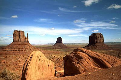 Photograph - Monument Valley Arizona - Landscape by Art America Gallery Peter Potter