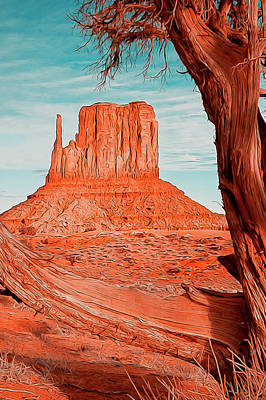 Painting - Monument  Valley, Arizona Panorama - 2  by Andrea Mazzocchetti