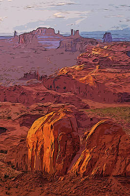 Painting - Monument  Valley, Arizona Panorama by Andrea Mazzocchetti