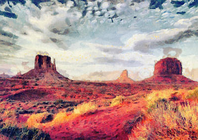 Painting - Monument Valley Art - Colorful Painting by Wall Art Prints