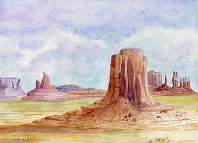 Painting - Monument Valley Artist Point by Marilyn Smith