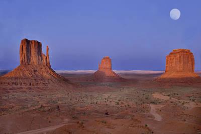 Monument Valley At Dusk Art Print by Joel P Black
