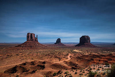 Photograph - Monument Valley At Full Moon by JR Photography