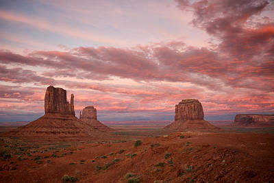Photograph - Monument Valley At Sunset by Mary Lee Dereske