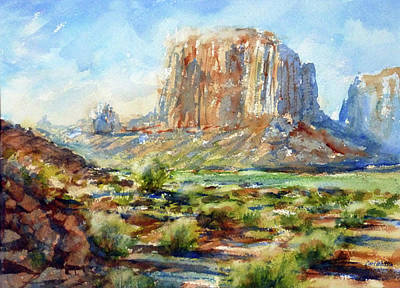 Painting - Monument Valley, Az by Carl Whitten