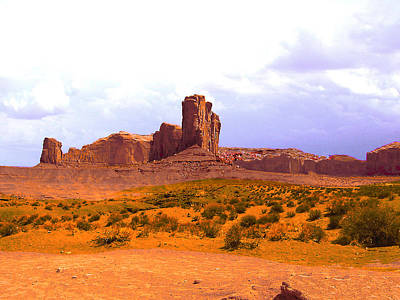 Photograph - Monument Valley Az Landscape by Merton Allen