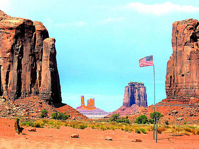 Photograph - Monument Valley Az - Long May It Wave by Merton Allen