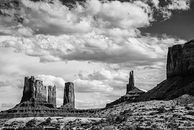Photograph - Monument Valley Black And White 1 by John McArthur