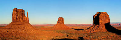 Landscapes Royalty-Free and Rights-Managed Images - Monument Valley Buttes Panoramic Landscape at Sunset by Gregory Ballos