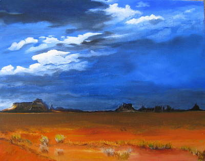 Painting - Monument Valley Clouds by LaVonne Hand
