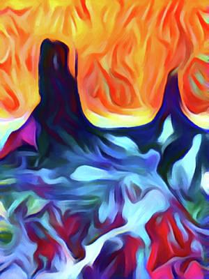Digital Art - Monument Valley by David Hansen