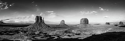 Photograph - Monument Valley Drama Panorama by David Cote