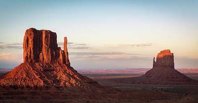 Photograph - Monument Valley Evening Panorama by David Cote