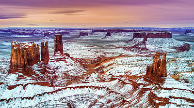 Photograph - Monument Valley From Above by DLP Squared Photography