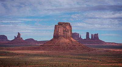 Photograph - Monument Valley From Artist's Point by Bud Simpson