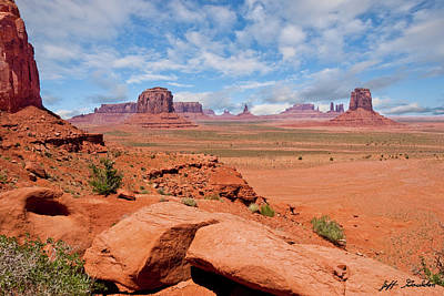 Photograph - Monument Valley From North Window Overlook by Jeff Goulden