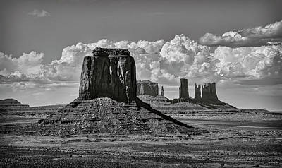Photograph - Monument Valley In Black And White  by Saija Lehtonen