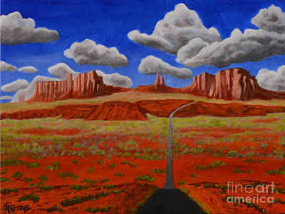 Painting - Monument Valley by Jack Hedges