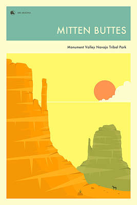Navajo Digital Art - Monument Valley by Jazzberry Blue