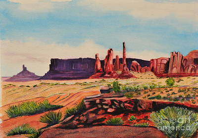 Painting - Monument Valley by John W Walker