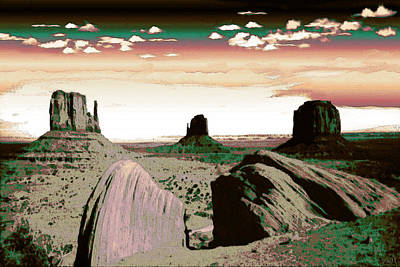 Painting - Monument Valley Arizona - Fantasy Art by Art America Gallery Peter Potter