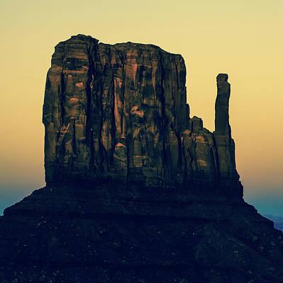 Photograph - Monument Valley Mitten Utah Arizona - Polaroid by Gregory Ballos
