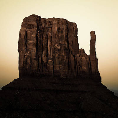 Photograph - Monument Valley Mitten Utah Arizona - Vintage by Gregory Ballos