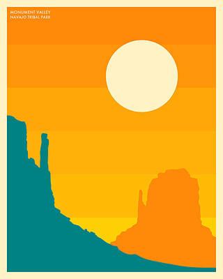 Navajo Digital Art - Monument Valley Navajo Tribal Park by Jazzberry Blue