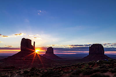 Photograph - Monument Valley Navajo Tribal Park Sunrise by Teri Virbickis