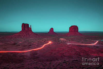 Photograph - Monument Valley Night Driving by JR Photography