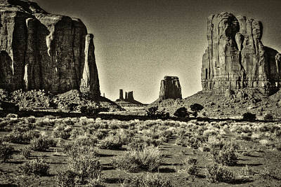 Photograph - Monument Valley North Window Formation by Roger Passman