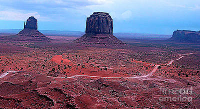 Photograph - Monument Valley Panorama At Dusk- Arizona by Merton Allen