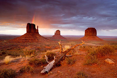 Photograph - Monument Valley Rainbow by Eric Foltz