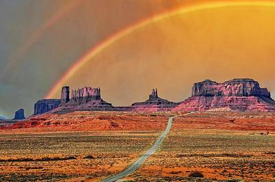 Photograph - Monument Valley Rainbow I by Flying Z Photography by Zayne Diamond
