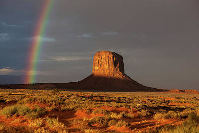 Photograph - Monument Valley Rainbow Sunrise by Jay Moore