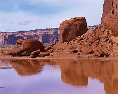 Photograph - Monument Valley Reflection by Tom Daniel